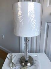 limelights stick l with charging outlet and fabric shade stainless steel art deco electric wall plug in ls ebay