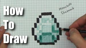 diamond minecraft how to draw a minecraft diamond step by step youtube