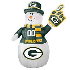 hsn football fan shop officially licensed nfl inflatable 7 snowman packers 8504999 hsn