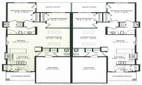 single story duplex floor plans duplex plan chp 24301 at single story duplex floor plans