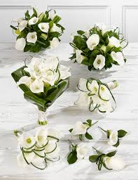 White Wedding Bouquets White Calla Lily Wedding Flowers Collection 3 M U0026s