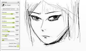 drawing manga in artrage sketching and inking artrage