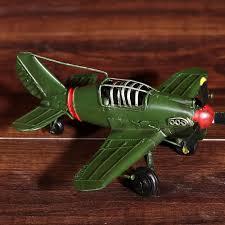 retro model plane ornaments children room photography props bar