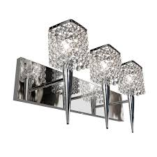 shop bazz glam sephora 3 light 10 in chrome square vanity light at