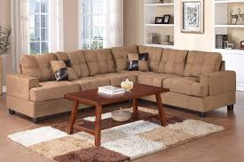 Reversible Sectional Sofa by Beige Microfiber Sectional Sofa