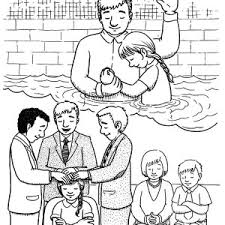 bapptism of jesus with holy spirit coloring pages bapptism of