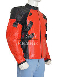 black motorcycle jacket mens armored style deadpool biker leather jacket instylejackets