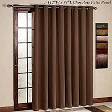 Sliding Patio Door Curtains Amazon Com Best Home Fashion Wide Width Thermal Insulated