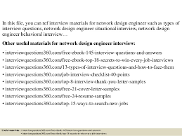 Network Design Engineer Resume Top 10 Network Design Engineer Interview Questions And Answers