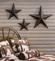 star decor for home set of 3 large metal tin barn star wall by thelittleyellowbarn