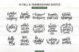 fall autumn thanksgiving quotes clipart svg png bundle by