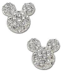mickey mouse earrings disney couture mickey mouse stud earrings glitter glam