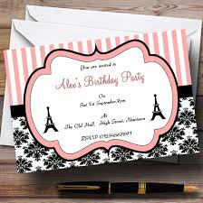personalised halloween party invitations parisian paris eiffel tower vintage chic theme personalised