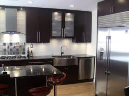 Stainless Steel Tiles For Kitchen Backsplash Wonderful Solid Color Kitchen Backsplash Using White Ceramic Tile