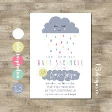 sprinkle shower baby sprinkle invitation cloud baby shower invitation gender