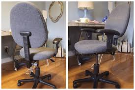 Reupholster Armchair Cost Diy Reupholstered Office Chair Simple Stylings
