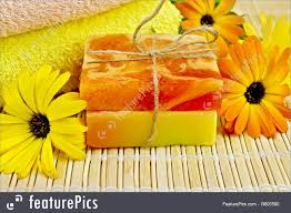 soap homemade with calendula image