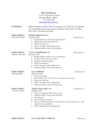 Cnc Machinist Resume Alluring Machinist Resume Template On 100 Resume Template