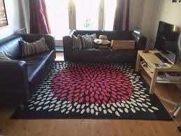 Black Large Rug Rug Square Large Rug Carpet Ikea Tradklover 200x200cm 5 U00277