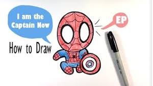 draw chibi spiderman tutorials canvas