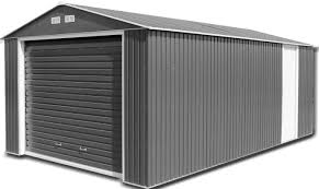 garage workshops metal garages green outdoor steel storage buildings anthracite