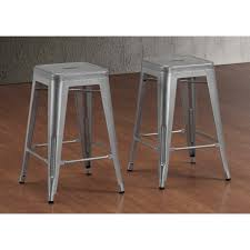 36 Inch Bar Stool Furniture Tabouret Inch Perforated Steel Counter Stools Set Of