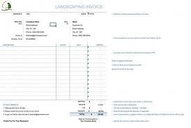 Service Invoice Template Excel Lawn Service Invoice Template Best Resume Collection