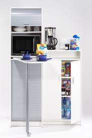 meuble snack cuisine meuble de cuisine à rideau avec plateau pivotant blanc gris snack