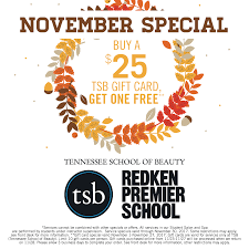 gift card specials special offers tennessee school of beauty