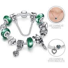 best bracelet charms images Nutty best friends silver pandora style bracelet combo set with jpg