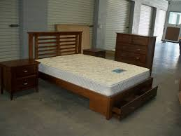 bedroom leather queen size platform bed frame with spacious