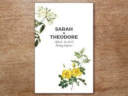 printable wedding program botanical e m papers
