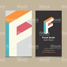 logo alphabet letter f with business card template stock vector