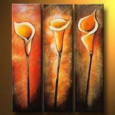 decor painting simple callas modern canvas art wall decor floral oil painting wall