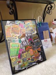 Raffle Gift Basket Ideas 16x20 Frame Full Off Scratch Off Lottery Tickets For Class Reunion