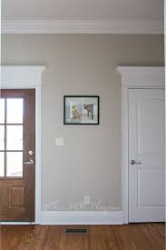 mud room with behr sculptor clay and silky white trim a bm