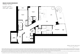 Floor Plans For Beach Houses by Biscayne Beach Condo Floor Plans Biscayne Beach Luxury Condos