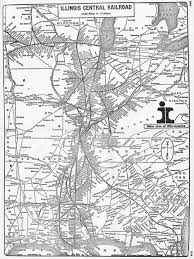 Road Map Of Illinois by The Illinois Central Railroad