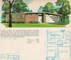 mid century modern ranch house plans garage plans modern house