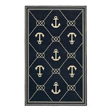 Rv Outside Rugs Nautical Anchors Indoor Outdoor Rug Christmas Tree Shops Andthat