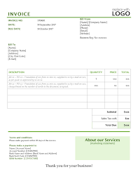 work invoice template labor contractor business investment