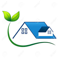 Eco Friendly House by Eco Friendly House Real Estate Symbol Royalty Free Cliparts