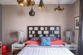 chambre deco moderne visite une maison avec le juste mélange de moderne et de vintage
