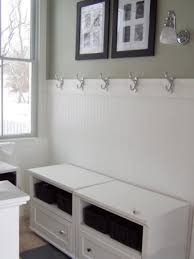 gorgeous mud room decoration feat white bench with storage added