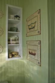 bathroom remodel more decor a hidden beadboard panel provides
