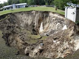 large sinkhole opens up at jonesville area home news