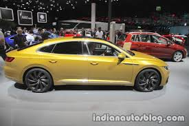volkswagen arteon r line vw arteon r line showcased at iaa 2017 live