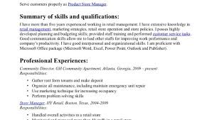 Store Manager Resume Examples Retail Store Manager Resume Example Objective Summary Of Skills