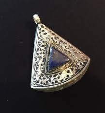lapis pendant kuchi jewellery old banjaran necklace ethnic