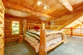 stylish log cabin bedroom ideas christmas cabins christmas cabins